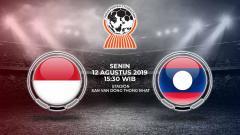 Indosport - Pertandingan Indonesia U-18 vs Laos U-18 di Piala AFF U-18 2019.
