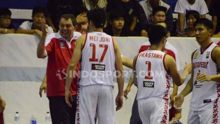 Timnas Basket Putra Indonesia menargetkan meraih medali perak di pesta olahraga SEA Games 2019. - INDOSPORT