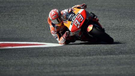 Pembalap Repsol Honda, Marc Marquez dianggap sebagai sosok yang menakutkan di MotoGP. - INDOSPORT