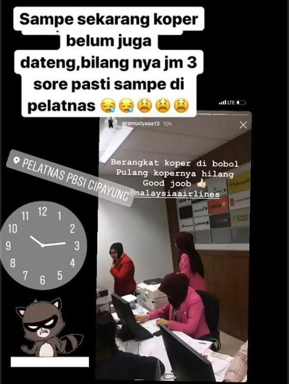 Pramudya Kusumawardana, pebulutangkis ganda putra Indonesia kehilangan koper saat menggunakan maskapai Malaysia Airlines Copyright: Instagram @pramudyaaa13