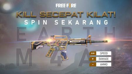 Skin baru senjata M4A1 Earth hadir di game eSports Free Fire. - INDOSPORT