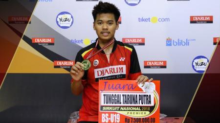 Syabda Perkasa Belawa raih gelar juara di Jakarta Junior International Series. - INDOSPORT