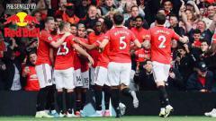 Indosport - Aksi selebrasi para pemain Manchester United tumbangkan Chelsea dengan skor 4-0 tanpa balas.
