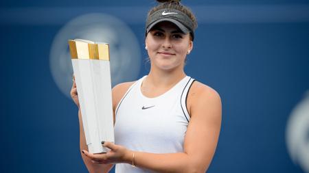 Juara bertahan Rogers Cup, Bianca Andreescu mengaku siap unjuk gigi di turnamen Grand Slam AS Terbuka 2019. - INDOSPORT