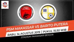Indosport - Prediksi PSM Makassar vs Barito Putera di Liga 1.