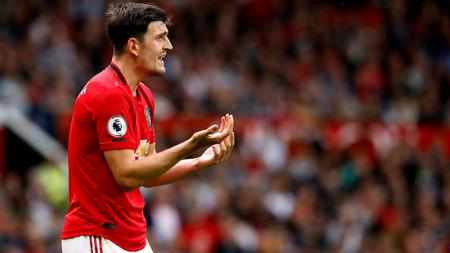 Harry Maguire bicara soal performa Manchester United yang tengah melempem di awal musim 2019/20. Martin Rickett/PA Images via Getty Images. - INDOSPORT