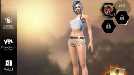 Karakter baru di game Free Fire bernama A124. - INDOSPORT