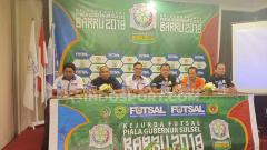 Indosport - Konferensi Pers Kejurda Futsal Piala Gubernur Sulsel 2019 di Hotel Ramedo, Makassar. Foto: Adriyan Adirizky/INDOSPORT
