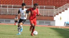 Indosport - Laga penentu Indonesia U18 vs Laos U18 di Stadion Thong Nhat, Vietnam, Senin (12-08-19). Foto: Media PSSI