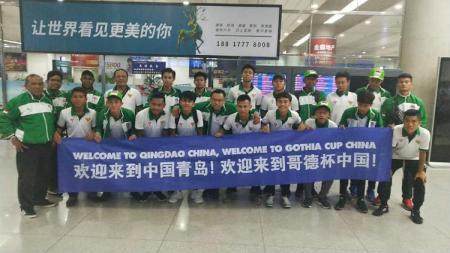 Para pemain Indonesia tiba di China untuk tampil di Gothia Cup 2019 - INDOSPORT