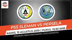 Indosport - Pertandingan PSS Sleman vs Persela Lamongan.