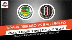 Indosport - Pertandingan Tira-Persikabo vs Bali United.
