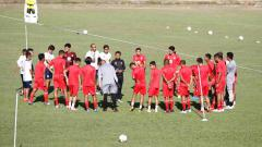 Indosport - Official Training Barito Putera di Stadion Andi Mattalatta, Makassar, Selasa (13/08/19).