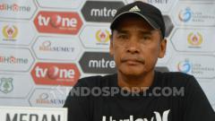 Indosport - Pelatih PSMS Medan, Abdul Rahman Gurning melakukan sejumlah antisipasi kepada skuat asuhanya terutama jangan terpancing emosi dan tetap fokus di pertandingan.