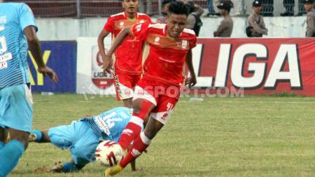 Gelandang Persis Solo, Slamet Budiyono. Foto: Ronald Seger Prabowo/INDOSPORT - INDOSPORT