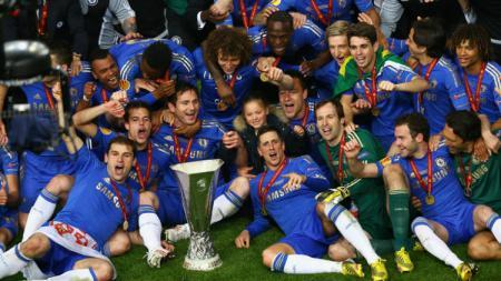 Chelsea saat juara Piala Super Eropa tahun 2012. - INDOSPORT