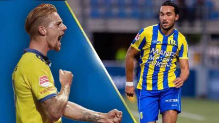 Ketika calon pemain Persib Bandung, Kevin van Kippersluis hancurkan Ezra Walian di kasta kedua Liga Belanda. - INDOSPORT