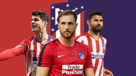 Starting profil Atletico Madrid. - INDOSPORT
