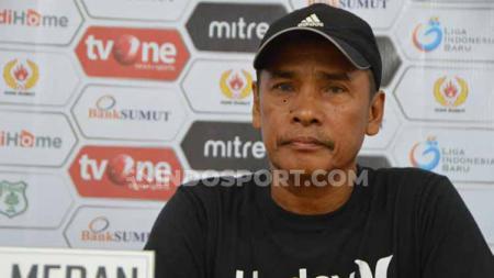 Pelatih PSMS Medan, Abdul Rahman Gurning. - INDOSPORT