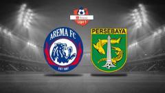 Indosport - Logo Arema FC vs Persebaya Surabaya.