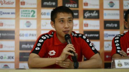 Gelandang tengah Bhayangkara FC, Lee Yu Jun. - INDOSPORT