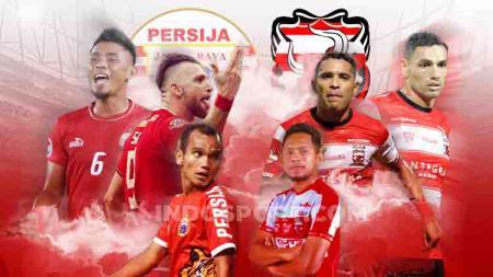 Laga Madura United melawan Persija Jakarta pada Jumat (16/8/19) pukul 18.30 WIB bisa disaksikan di Vidio.com. - INDOSPORT