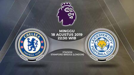 Pertandingan Chelsea vs Leicester City. - INDOSPORT