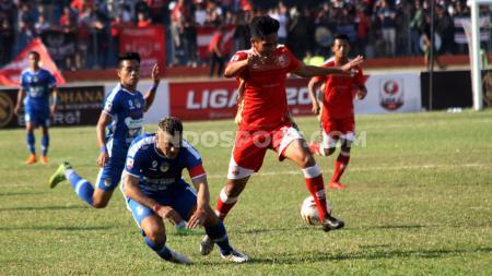 Persis Solo berhasil menaklukkan PSIM Yogyakarta di laga pekan kesepuluh Liga 2 dengan skor 2-1 (16/8/19). - INDOSPORT