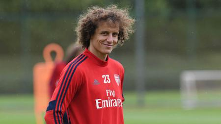 David Luiz, bek tengah Arsenal. - INDOSPORT