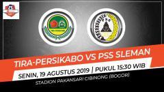 Indosport - Pertandingan Tira-Persikabo vs PSS Sleman.