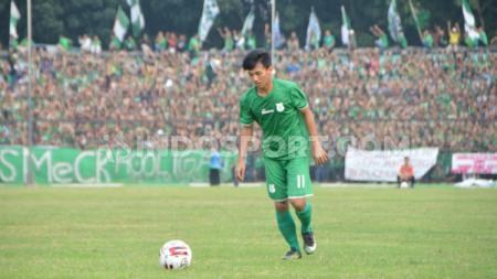 Eks gelandang Timnas Indonesia U-19, Muhammad Iqbal, mengungkapkan kebahagiaannya usai bergabung dengan klub Liga 3 Korea Selatan (K3 League), Cheongju FC. - INDOSPORT