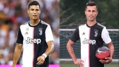 Indosport - Cristiano Ronaldo dan pria yang mirip dengannya.