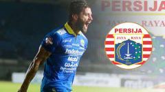 Indosport - Bojan Malisic dan logo Persija Jakarta.