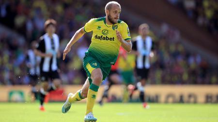Teemu Pukki jadi salah satu kandidat pemain terbaik Liga Inggris bulan Agustus 2019. Marc Atkins/Getty Images. - INDOSPORT