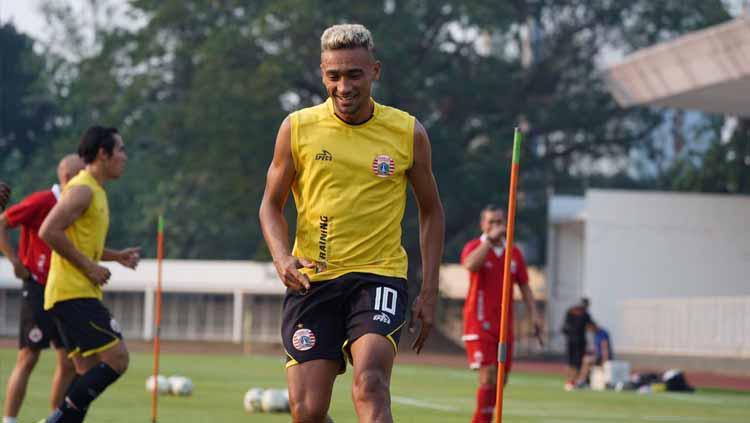 Bruno Matos di sesi official training. Copyright: Media Persija