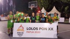 Indosport - Tim basket putra 3x3 Sumut.