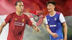 Indosport - Pemain berdarah Indonesia, Elkan Baggott dan Virgil Van Dijk.