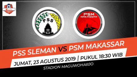 PSM Makassar memimpin 2-0 atas tuan rumah PSS Sleman pada babak pertama pertandingan pekan ke-15 Shopee Liga 1 2019, Jumat (23/08/19), di Stadion Maguwoharjo. - INDOSPORT