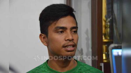 Pemain baru PSMS Medan, Tedi Berlian. - INDOSPORT