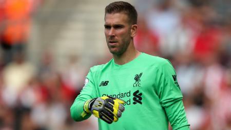 Adrian yang tampil di laga Liga Inggris Liverpool vs Brighton, Sabtu (30/11/19) menuai pujian dari sang pelatih, Jurgen Klopp. James Williamson - AMA/Getty Images. - INDOSPORT