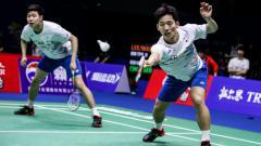 Indosport - Nasib kurang baik sudah harus dialami oleh pasangan ganda putra Korea Selatan, Choi Solgyu/Seo Seung Jae di turnamen Denmark Open 2019.