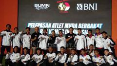 Indosport - Pelepasan pesepakbola muda Indonesia ke LaLiga Spanyol.
