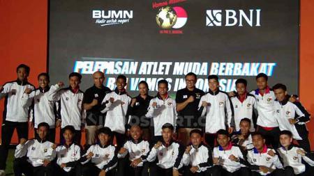 Pelepasan atlet muda Indonesia ke LaLiga Spanyol. - INDOSPORT