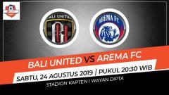 Indosport - Laga Shopee Liga 1 antara Bali United melawan Arema FC pada Sabut (24/08/19) pukul 20.30 WIB bisa disaksikan langsung di Vidio.com.