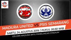 Indosport - Madura United vs PSIS Semarang saling berhadapan di pekan ke-16 Shopee Liga 1 2019.
