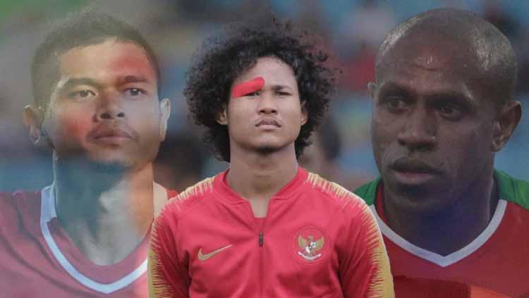 Bagus Kahfi, Bambang Pamungkas dan Boaz Solossa. Copyright: baguskahfiii Verified/Eli Suhaeli/INDOSPORT