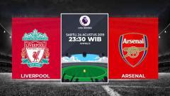 Indosport - Liverpool vs Arsenal di Liga Inggris musim 2019/20.