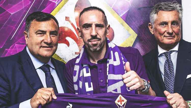 Frank Ribery resmi diperkenal kepada awak media. Copyright: acffiorentina
