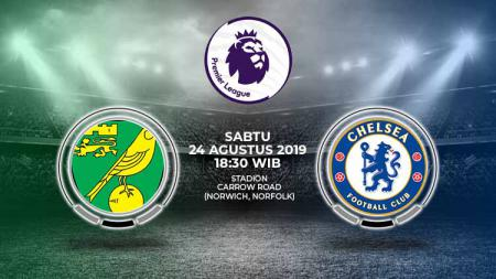 Pertandingan Norwich City vs Chelsea. - INDOSPORT