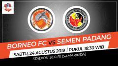 Indosport - Pertandingan Borneo FC vs Semen Padang.